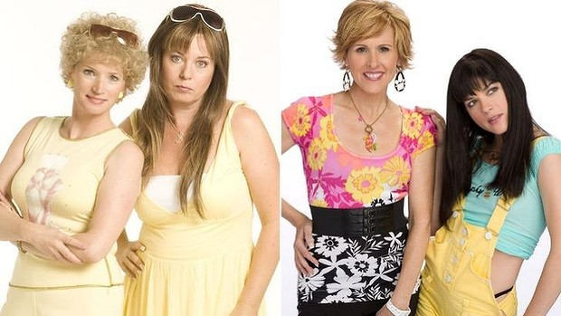 The Australian Kath & Kim (left) and the American version of Kath & Kim (right)